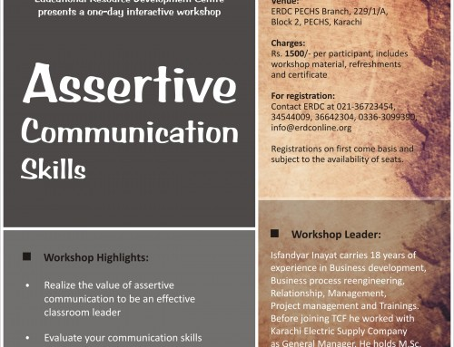 One-day workshop on ASSERTIVE COMMUNICATION SKILLS