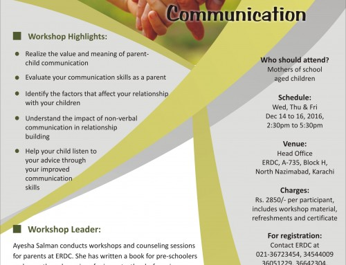 Three-day workshop on EFFECTIVE PARENT-CHILD COMMUNICATION
