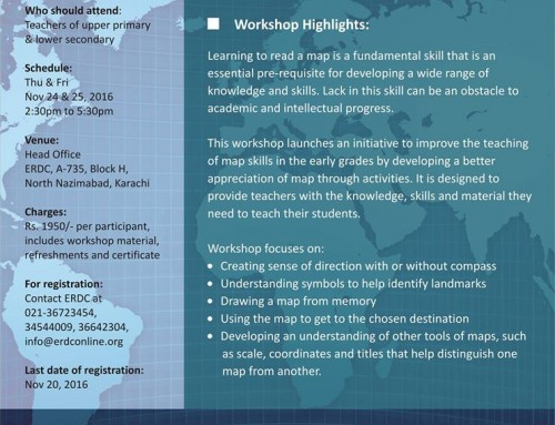 Two-day workshop on MAP READING