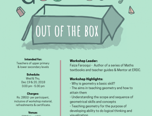 Workshop for Maths Teachers: GEOMETRY OUT OF THE BOX