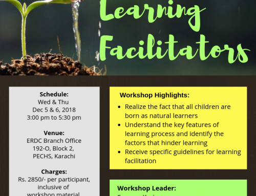 A two-day Workshop: TEACHERS AS LEARNING FACILITATORS