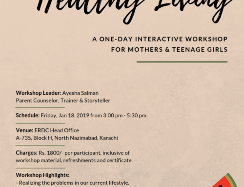 A one-day workshop for mothers & teenage girls: HEALTHY LIVING