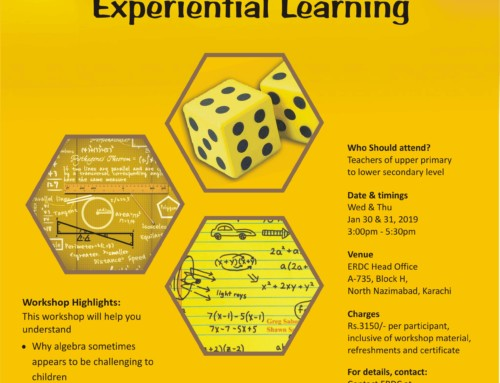 Wokshop for Maths teachers: ALGEBRA THROUGH EXPERIENTIAL LEARNING