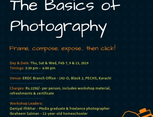 A three-day workshop for Students: THE BASICS OF PHOTOGRAPHY