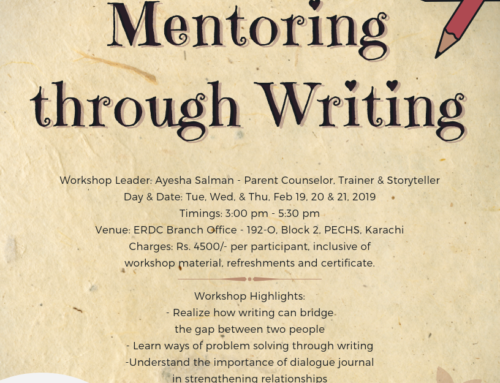 A 3 day workshop- Mentoring through Writing