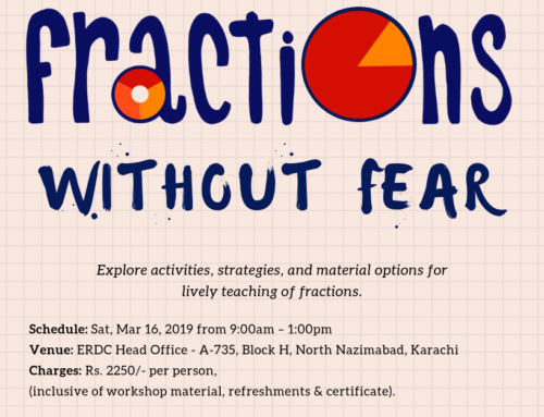 Workshop for Maths Teachers: Fractions without Fear