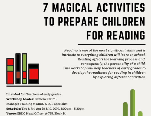 Workshop for early grades teachers: 7 MAGICAL ACTIVITIES TO PREPARE CHILDREN FOR READING