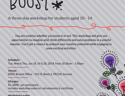Workshop for Students: CREATIVITY BOOST
