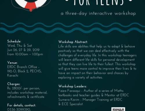 A three day Workshop for teens: LIFE SKILLS FOR TEENS