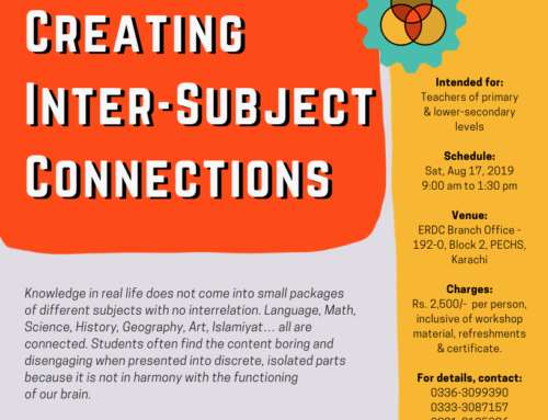 A one-day interactive workshop: CREATING INTER-SUBJECT CONNECTIONS
