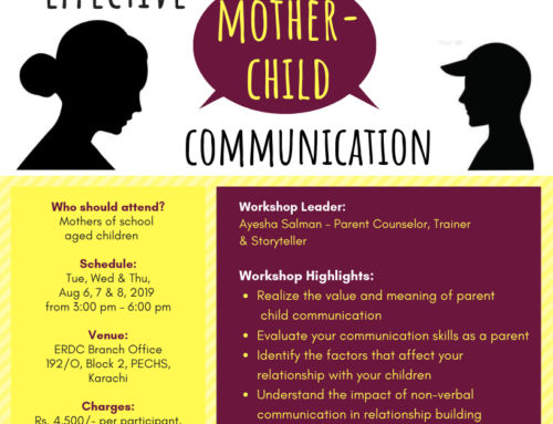 Workshop for Mothers: EFFECTIVE MOTHER-CHILD COMMUNICATION