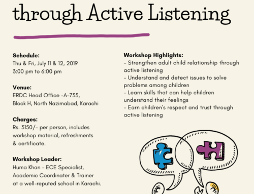A two-day workshop: 'WINNING CHILDREN THROUGH ACTIVE LISTENING'