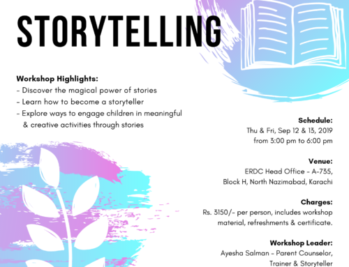 A two-day Workshop for Mothers & Teachers: THE ART OF STORYTELLING