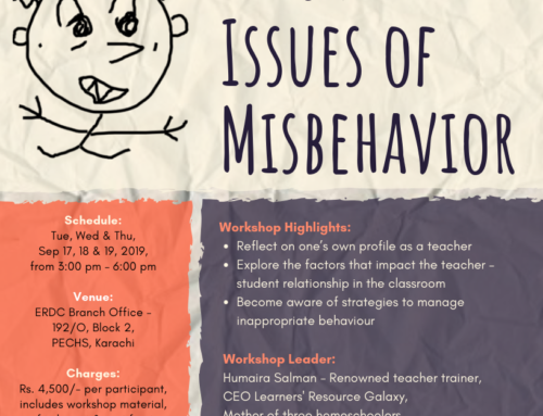 A three-day interactive workshop: RESOLVING ISSUES OF MISBEHAVIOR