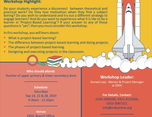 A three-day workshop: PROJECT BASED LEARNING