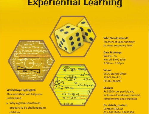 Workshop for Maths Teachers: Algebra through Experiential Learning