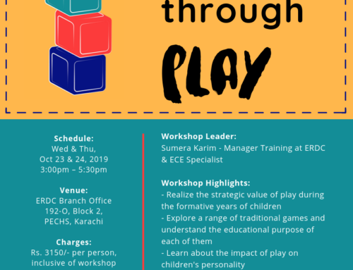 Workshop for teachers of Early Grades: LEARNING THROUGH PLAY