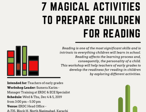 Workshop for Teachers of early grades: 7 MAGICAL ACTIVITIES TO PREPARE CHILDREN FOR READING