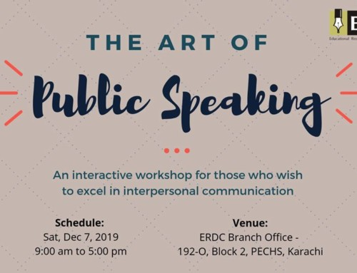 Workshop: The Art of Public Speaking