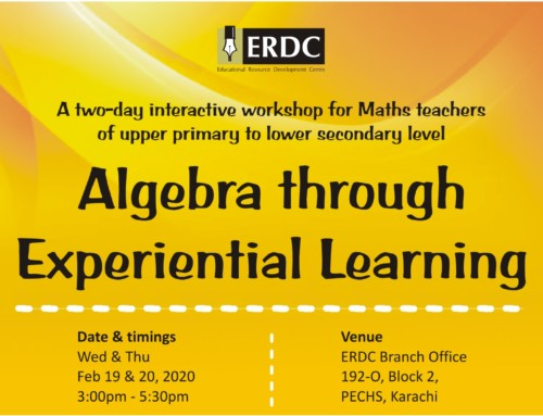 Workshop: Algebra through Experiential Learning