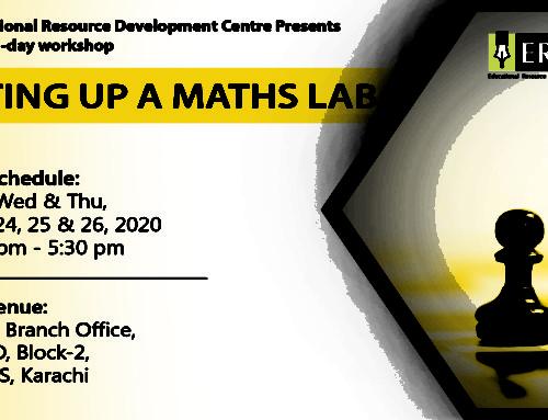 Workshop: Setting up a Maths Lab