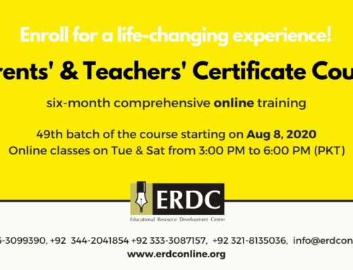 PTCC – PARENTS' & TEACHERS' CERTIFICATE COURSE (Admission Closed)