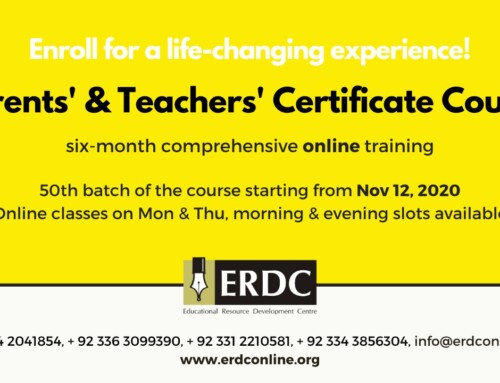 PTCC 50– PARENTS' & TEACHERS' CERTIFICATE COURSE- (Admission Closed)