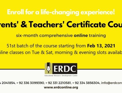 PTCC 51– PARENTS' & TEACHERS' CERTIFICATE COURSE – (Admission Closed)