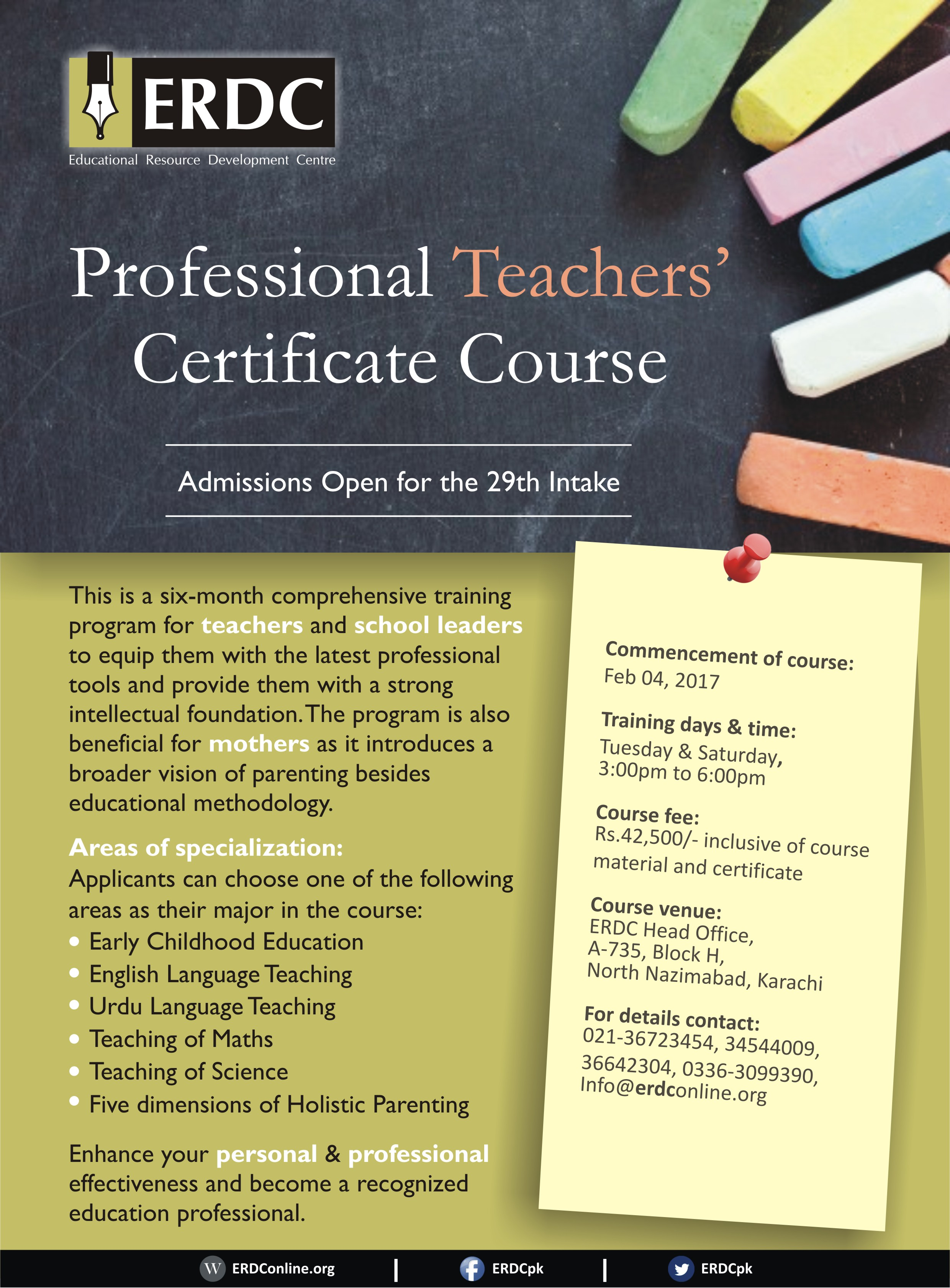 Professional teachers certificate course 29th batch erdc professional teachers certificate course 29th batch 1betcityfo Images