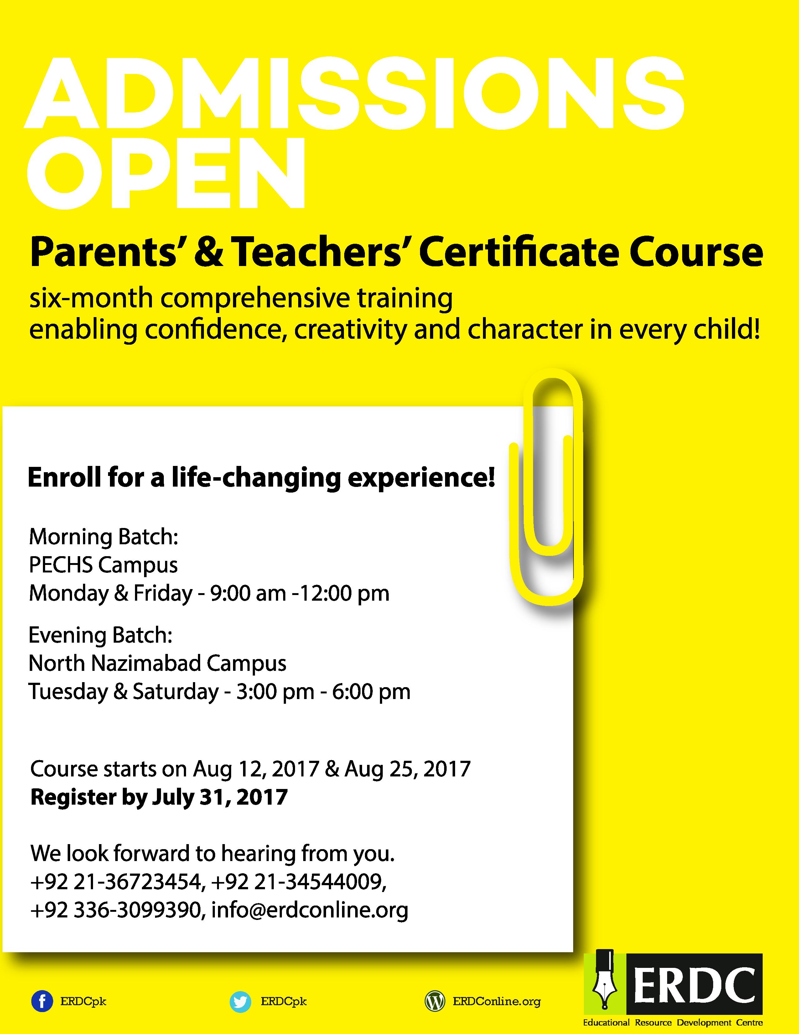 Parents teachers certificate course morning evening program parents teachers certificate course morning evening program 1betcityfo Gallery
